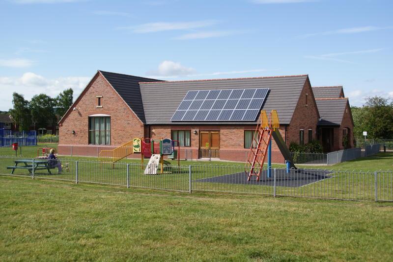 Solar Panels on Arley Kings Village Hall
