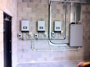 Commercial Solar PV Installation Plant Room