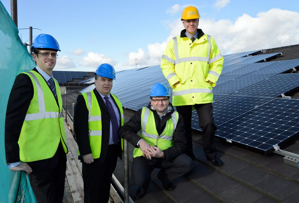 """Residents at The Rose Garden Extracare village in Hereford are set to make significant energy savings, thanks to an 80-kilowatt solar energy system installed by renewable energy specialist Eco2Solar. The major investment by Festival Housing, owners of The Rose Garden, is expected to save each resident around £80 per year on their energy bills, as well as providing 33.5 tonnes of carbon savings per year. Kidderminster based Eco2Solar was selected as project installer to manage Festival's biggest solar panel installation to date at The Rose Garden, following a competitive tendering process. The Rose Garden system comprises 245 Sunpower E20/333 panels and is expected to produce more than 67,042 units of 'green' energy every year – equivalent to the annual electricity use of 20 average households. All electricity generated will be used on site, helping to reduce service charges for residents living at The Rose Garden. Festival Housing will also benefit from the government-backed Feed in Tariff (FIT) and is expecting to generate a significant sum in tax-free income. """"Eco2Solar worked hard and efficiently to ensure The Rose Garden solar PV installation was a complete success, with little disruption for our residents,"""" commented Simon Williams, maintenance manager at Festival Housing. He said: """"Festival's residents will benefit hugely from these new solar panels as they will see a significant reduction in their energy bills through their service charge. """"We already regularly install solar panels on our domestic properties but this has been Festival's biggest solar panel project so far. Over the lifetime of the panels, the system will pay for itself accounting for both the Feed-in-Tariff income and the savings created from the electricity generation."""" As part of its on-going partnership with Festival Housing, Eco2Solar has recently completed solar PV installations on 180 domestic homes located in Worcestershire and Herefordshire. """"We are delighted to strengthen our partners"""