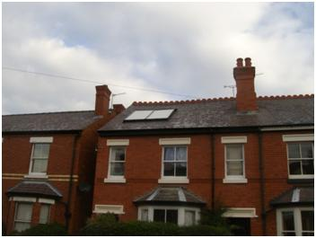 Example of flat plate roof integrated system
