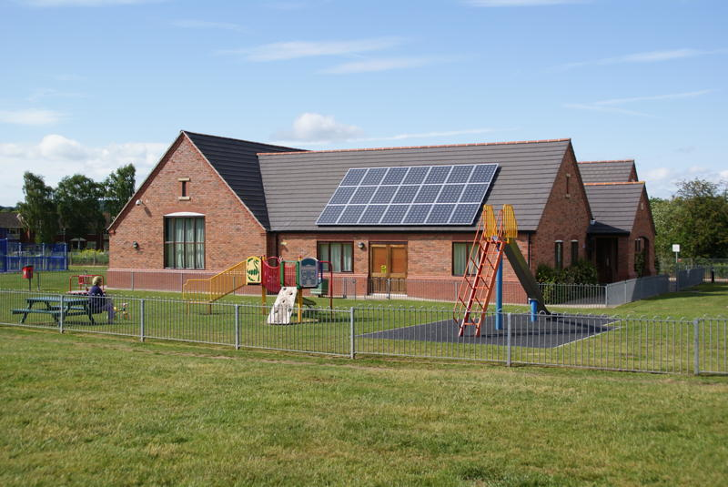 Solar Panels on Arley Kings Village Hall