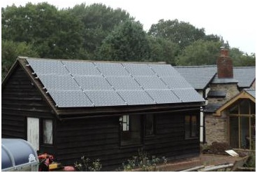 Solar PV Installation on Shed roof