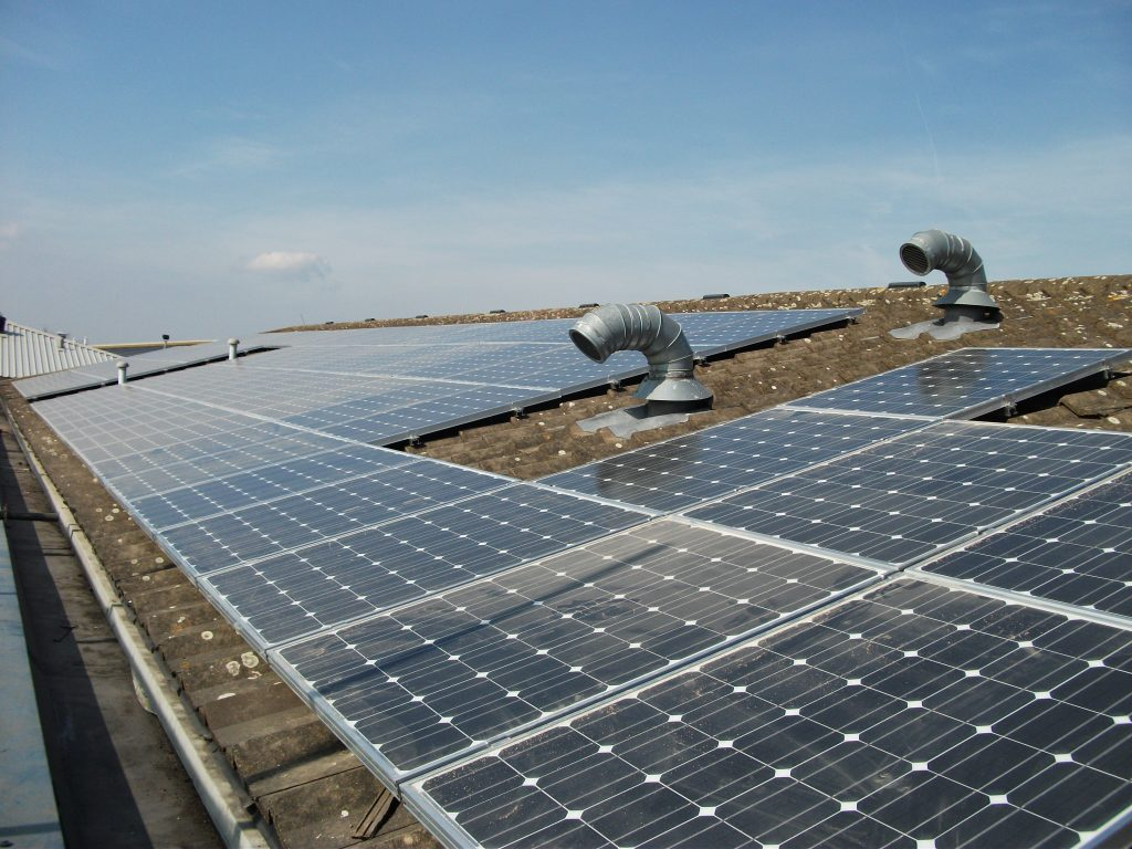 Solar Panels on Environment Agency roof