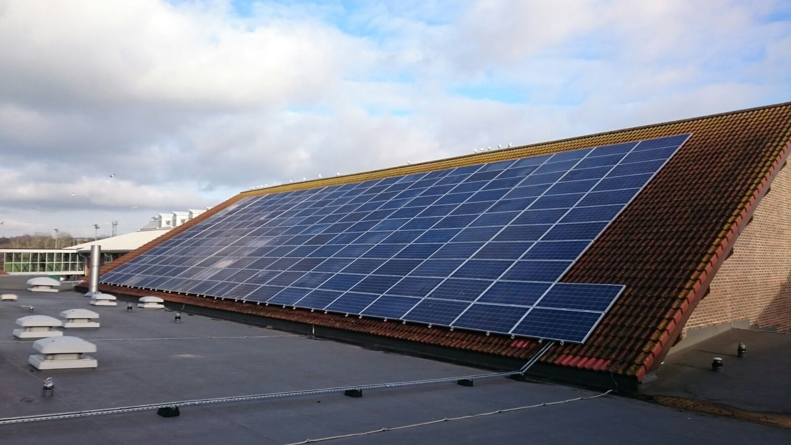 Chelmsford City Council Ford Solar Panel Roof Multiple Buildings